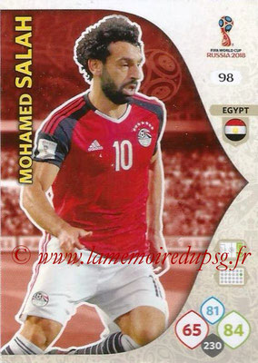 2018 - Panini FIFA World Cup Russia Adrenalyn XL - N° 098 - Mohamed SALAH (Egypte)