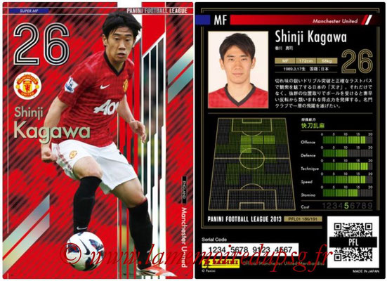 Panini Football League 2013 - PFL01 - N° 186 - Shinji Kagawa ( Manchester United  ) (Super MF)