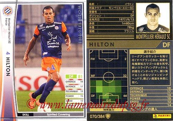 2012-13 - WCCF - N° 070 - HILTON (Montpellier Hérault SC)
