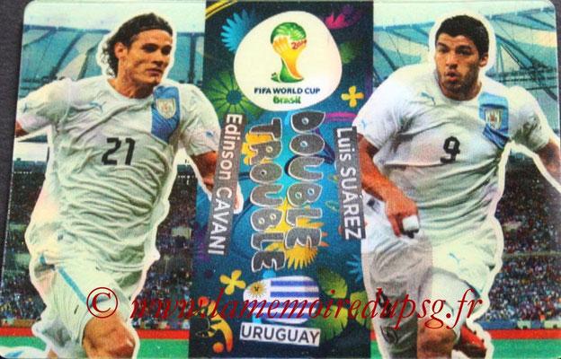 2014 - Panini FIFA World Cup Brazil Adrenalyn XL - N° 416 - Edinson CAVANI & Luis SUAREZ (Uruguay) (Double trouble)