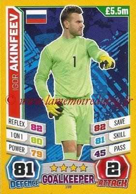 Topps Match Attax England 2014 - N° 198 - Igor AKINFEEV (Russie)