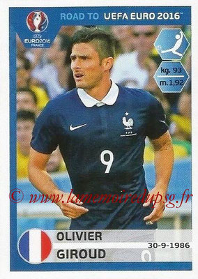 Panini Road to Euro 2016 Stickers - N° 111 - Olivier GIROUD (France)