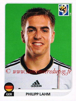 2010 - Panini FIFA World Cup South Africa Stickers - N° 263 - Philipp LAHM (Allemagne)
