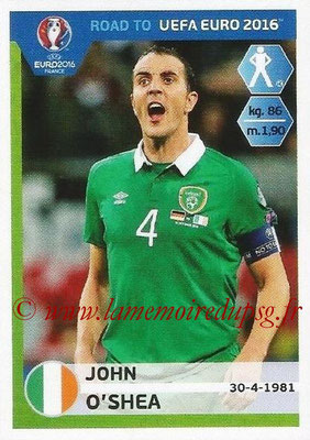 Panini Road to Euro 2016 Stickers - N° 146 - John O'SHEA (Eire)