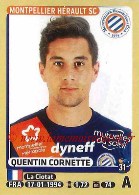 2015-16 - Panini Ligue 1 Stickers - N° 286 - Quentin CORNETTE(Montpellier Hérault SC)
