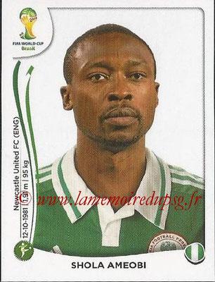 2014 - Panini FIFA World Cup Brazil Stickers - N° 486 - Shola AMEOBI (Nigéria)