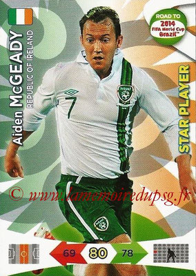 2014 - Panini Road to FIFA World Cup Brazil Adrenalyn XL - N° 115 - Aiden McGEADY (République d'Irlande) (Star Player)