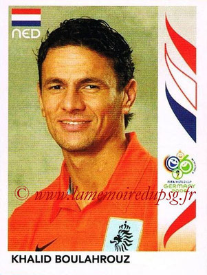 2006 - Panini FIFA World Cup Germany Stickers - N° 229 - Khalid BOULAHROUZ (Pays Bas)