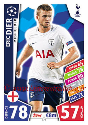 2017-18 - Topps UEFA Champions League Match Attax - N° 136 - Eric DIER (Tottenham Hotspur)