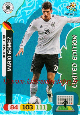Panini Euro 2012 Cards Adrenalyn XL - N° LE13 - Mario GOMEZ (Allemagne) (Limited Edition)