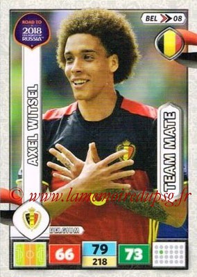 2018 - Panini Road to FIFA World Cup Russia Adrenalyn XL - N° BEL08 - Axel WITSEL (Belgique)