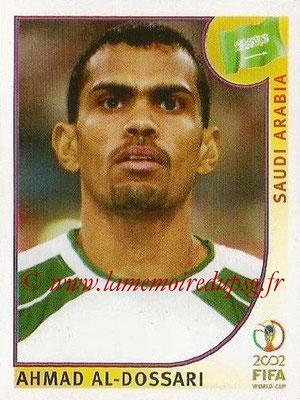 2002 - Panini FIFA World Cup Stickers - N° 334 - Ahmad AL-DOSSARI (Arabie Saoudite)