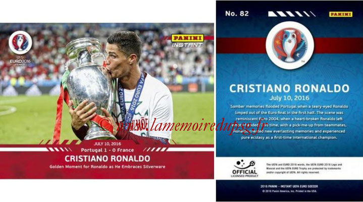 Panini Instant Euro 2016 - N° 082 - Cristiano RONALDO