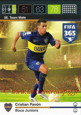 2015-16 - Panini Adrenalyn XL FIFA 365 - N° 056 - Cristian PAVON (Boca Juniors) (Team Mate)