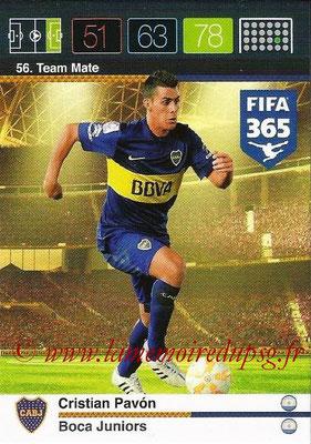 2015-16 - Panini Adrenalyn XL FIFA 365 - N° 056 - Cristian PAVON (Boca Juniors) (Team Mate)