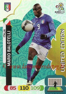 Panini Euro 2012 Cards Adrenalyn XL - N° LE30 - Mario BALOTELLI (Italie) (Limited Edition)