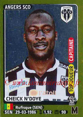 2015-16 - Panini Ligue 1 Stickers - N° 031 - Cheick N'DOYE (SCO Angers) (Capitaine) (Top joueur)