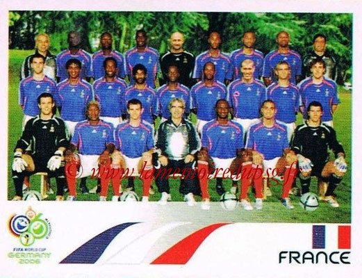 2006 - Panini FIFA World Cup Germany Stickers - N° 454 - Équipe France