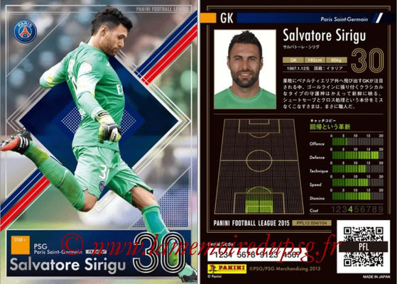 Panini Football League 2015 - PFL12 - N° 054 - Salvatore SIRIGU (Paris Saint-Germain) (Star +)
