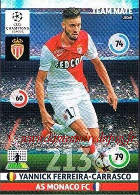 2014-15 - Adrenalyn XL champions League Update edition N° UE060 - Yannick FERREIRA-CARRASCO (AS Monacoy)
