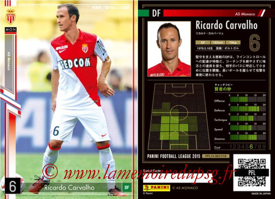 Panini Football League 2015 - PFL14 - N° 061 - Ricardo CARVALHO (AS Monaco)
