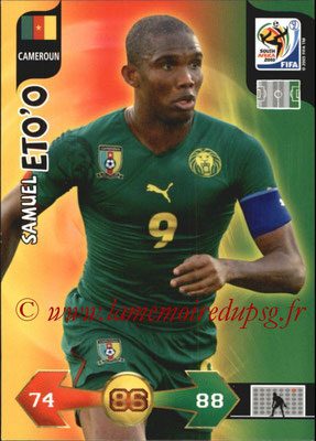 2010 - Panini FIFA World Cup South Africa Adrenalyn XL - N° 058 - Samuel ETO'O (Cameroun)