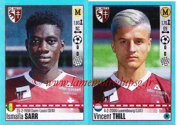 2016-17 - Panini Ligue 1 Stickers - N° 458 + 459 - Ismaïla SARR + Vincent THILL (Metz)