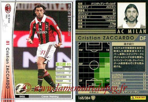 2012-13 - WCCF - N° 165 - Cristian ZACCARDO (Milan AC)