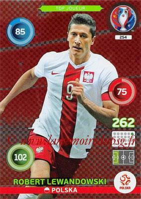Panini Euro 2016 Cards - N° 254 - Robert LEWANDOWSKI (Pologne) (Top Joueur)