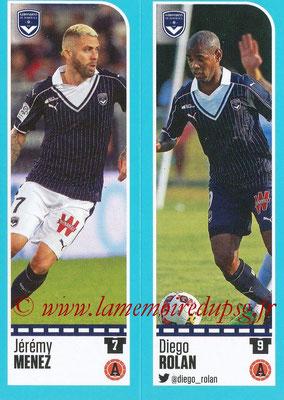 2016-17 - Panini Ligue 1 Stickers - N° 102 + 103 - Jérémy MENEZ + Diego ROLAN (Bordeaux)