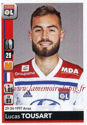 2018-19 - Panini Ligue 1 Stickers - N° 190 - Lucas TOUSART (Lyon)