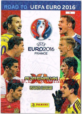 Panini Road to Euro 2016 Cards - N° 001