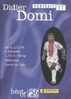 N° 011 - Didier DOMI (Verso)