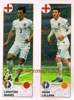 Panini Euro 2016 Stickers - N° 152 - Leighton BAINES + Adam LALLANA (Angleterre)