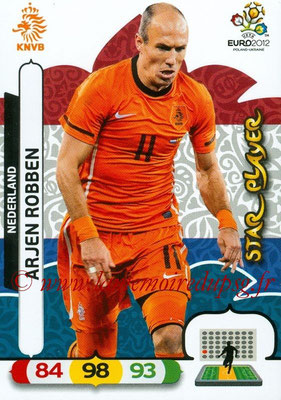 Panini Euro 2012 Cards Adrenalyn XL - N° 146 - Arjen ROBBEN (Pays-Bas) (Star Player)