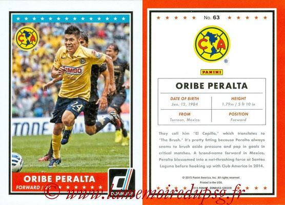 2015 - Panini Donruss Soccer - N° 063 - Oribe PERALTA (Club America)
