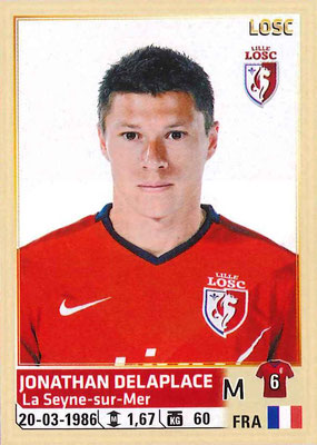 2014-15 - Panini Ligue 1 Stickers - N° 157 - Jonathan DELAPLACE (Lille OSC)