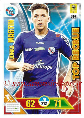 2017-18 - Panini Adrenalyn XL Ligue 1 - N° 510 - Jonas MARTIN (Strasbourg) (Top Recrue)