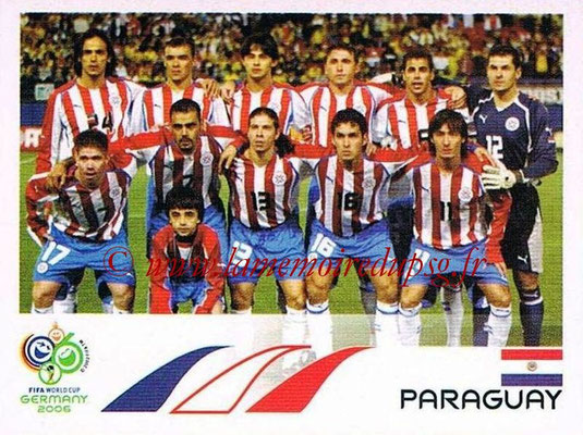2006 - Panini FIFA World Cup Germany Stickers - N° 112 - Équipe Paraguay