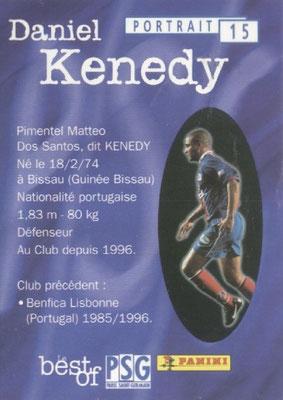 N° 015 - Daniel KENEDY (Verso)