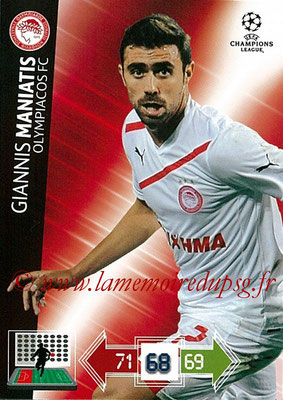 2012-13 - Adrenalyn XL champions League N° 185 - Giannis MANIATIS (Olympiacos FC)