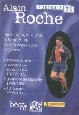 N° 024 - Alain ROCHE (Verso)