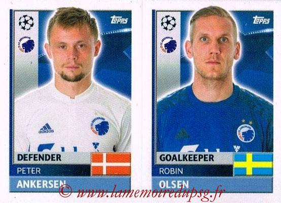 2016-17 - Topps UEFA Champions League Stickers - N° QFD 3-4 - Arkadiusz MALARZ + Lukasz BROZ (FC Copenhague)