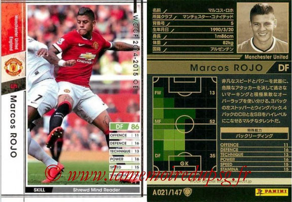 2014-15 - WCCF - N° A021 - Marcos ROJO (Manchester United FC)