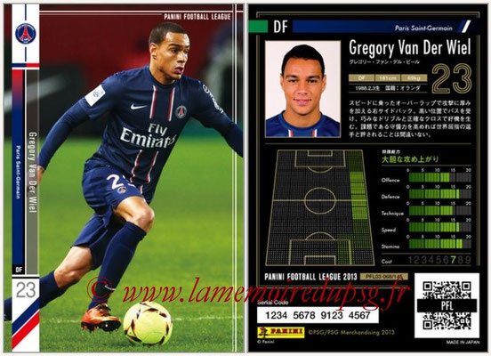 Panini Football League 2013 - PFL03 - N° 068 - Gregory Van Der Wiel (Paris Saint-Germain)