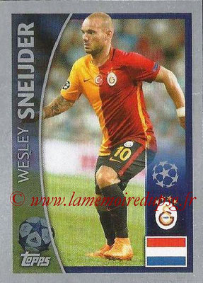 2015-16 - Topps UEFA Champions League Stickers - N° 157 - Wesley SNEIJDER (Galatasaray AS)