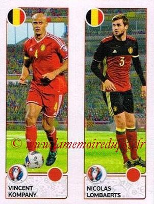 Panini Euro 2016 Stickers - N° 487 - Vincent KOMPANY + Nicolas LOMBAERTS (Belgique)