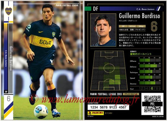 Panini Football League 2013 - PFL03 - N° 082 - Guillermo Burdisso (Boca Juniors)