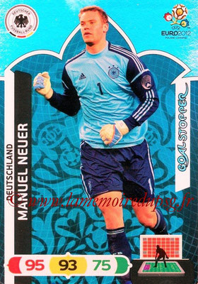 Panini Euro 2012 Cards Adrenalyn XL - N° 228 - Manuel NEUER (Allemagne) (Goal Stopper)