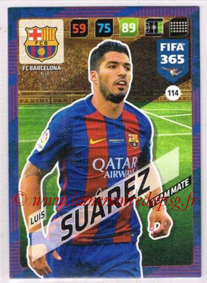 2017-18 - Panini FIFA 365 Cards - N° 114 - Luis SUAREZ (FC Barcelone)